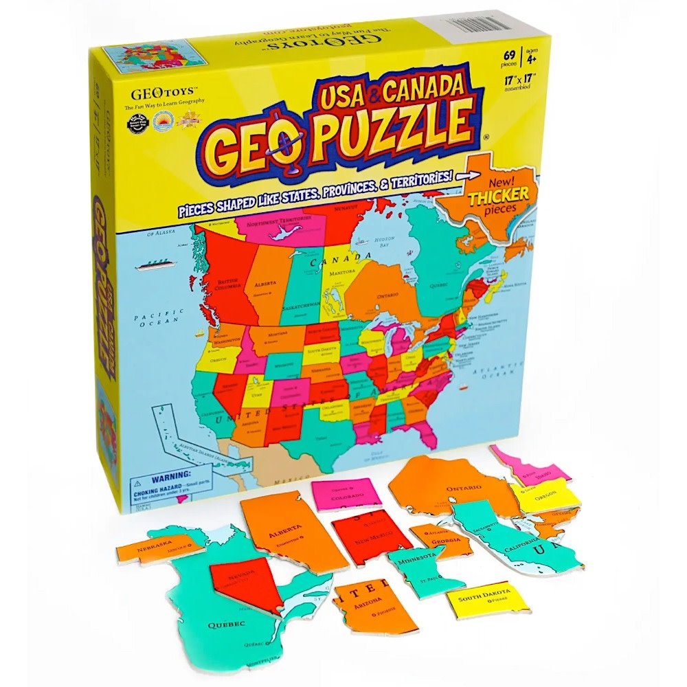 GeoPuzzle USA and Canada - 69 Piece Jigsaw Puzzle