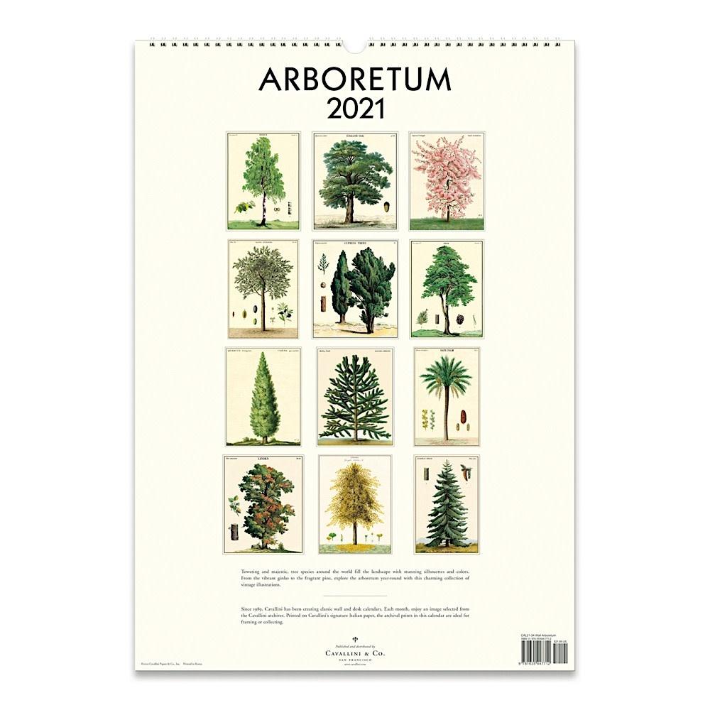 Cavallini Wall Calendar - Arboretum 2021