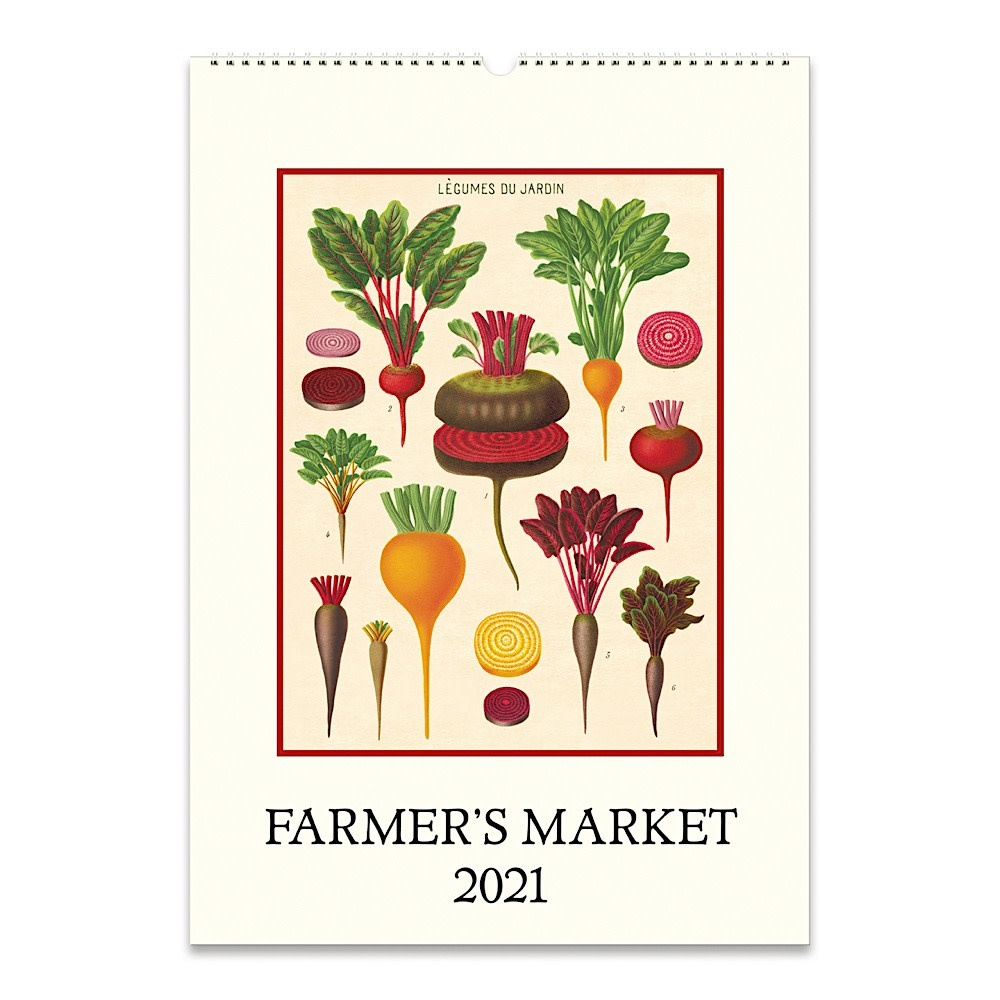 Cavallini Papers & Co., Inc. Cavallini Wall Calendar - Farmer's Market 2021