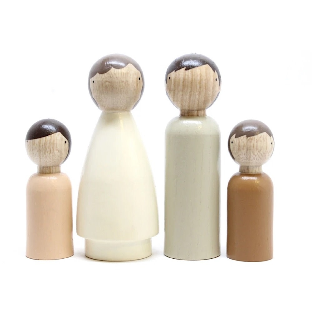 Goose Grease Wooden Dolls - The Organic Family
