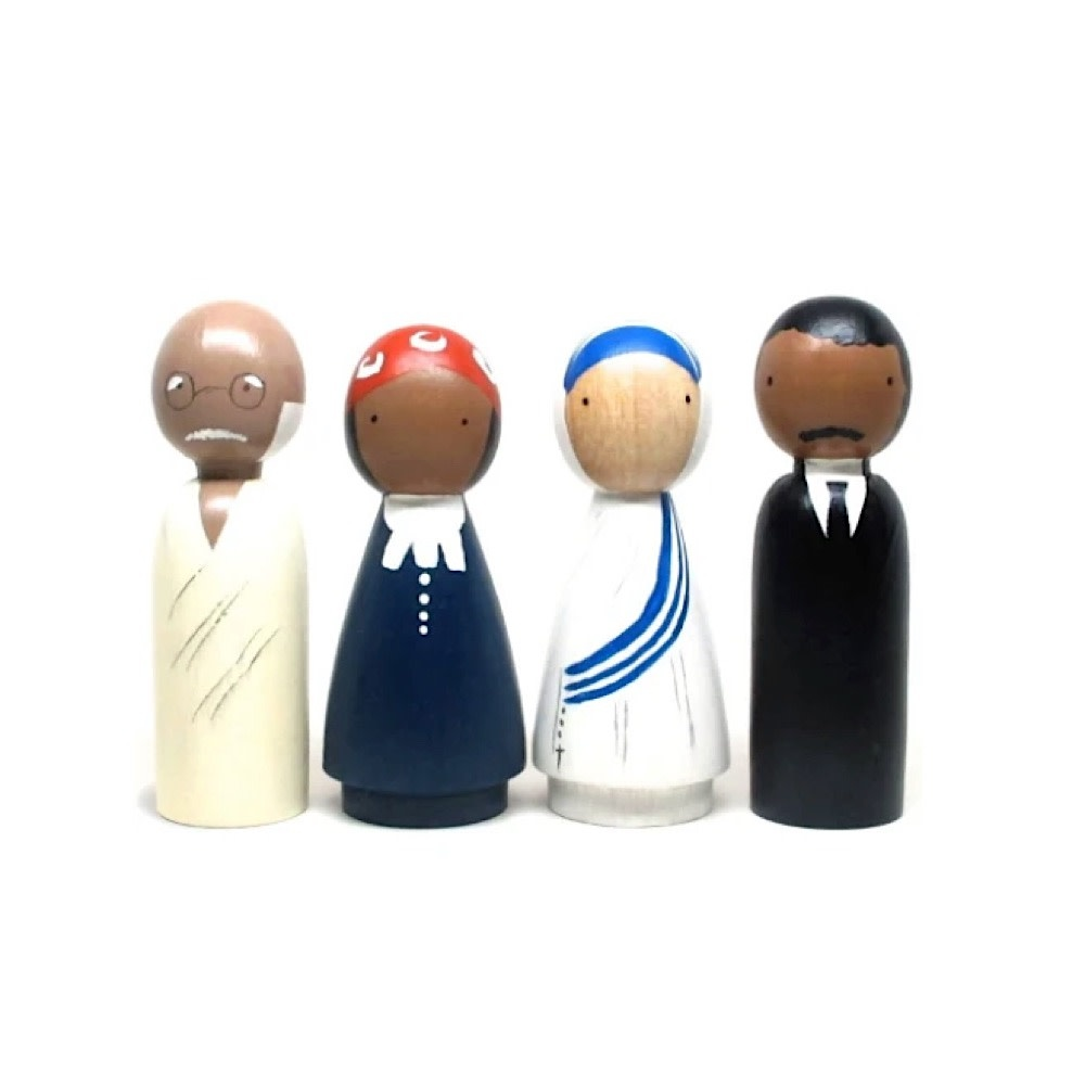 Goose Grease Wooden Dolls - The Peace Makers