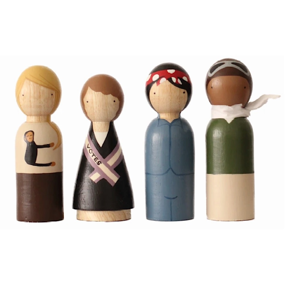 Goose Grease Wooden Dolls - The Trailblazers