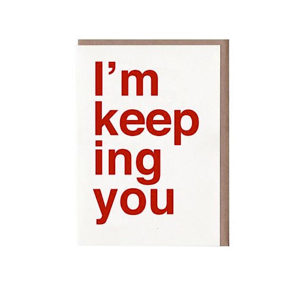 Sad Shop - I'm Keeping You Card
