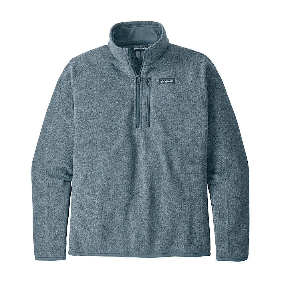 Patagonia Mens Better Sweater 1/4 Zip - Pigeon Blue