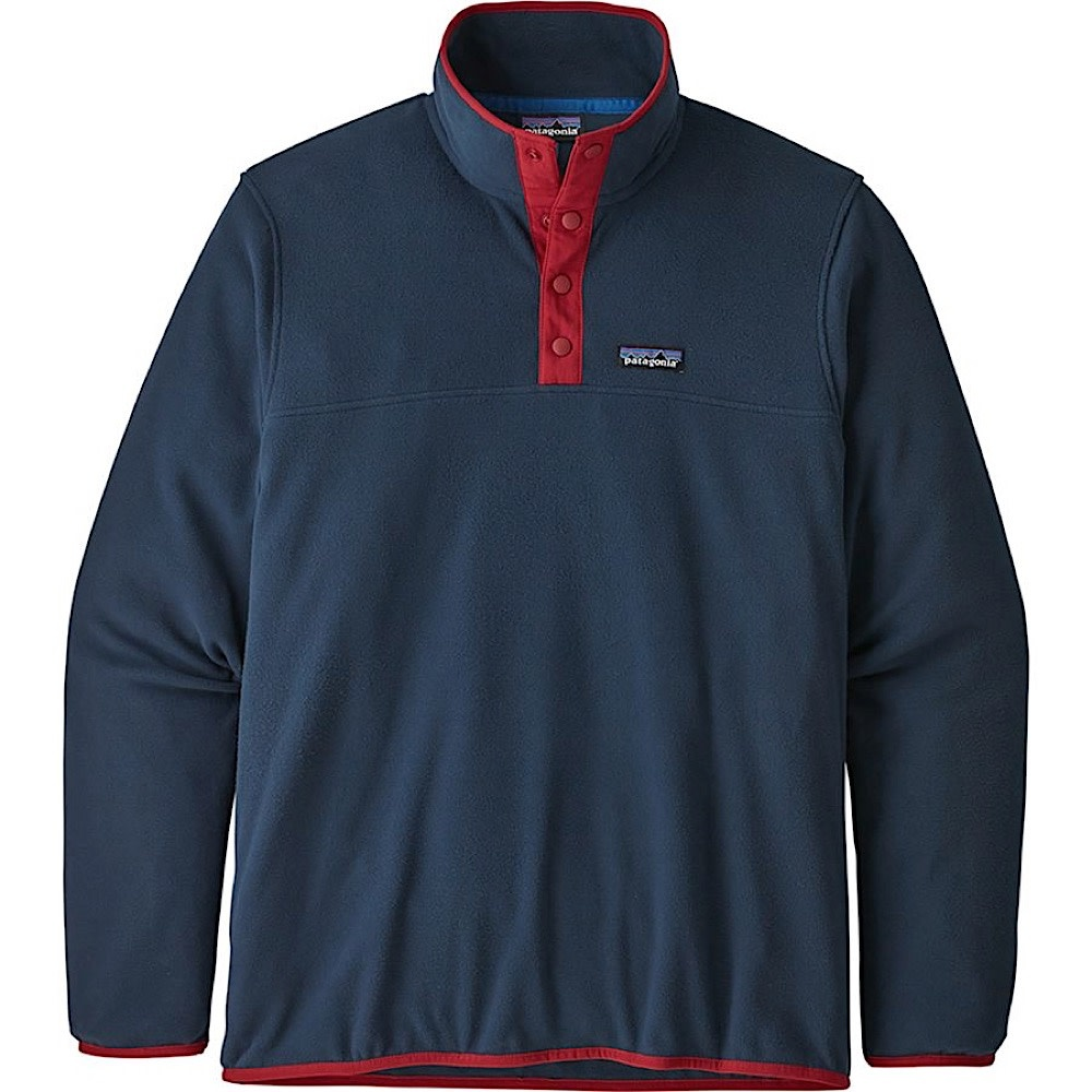 Patagonia Mens Micro D Snap-T Pullover - New Navy with Classic Red