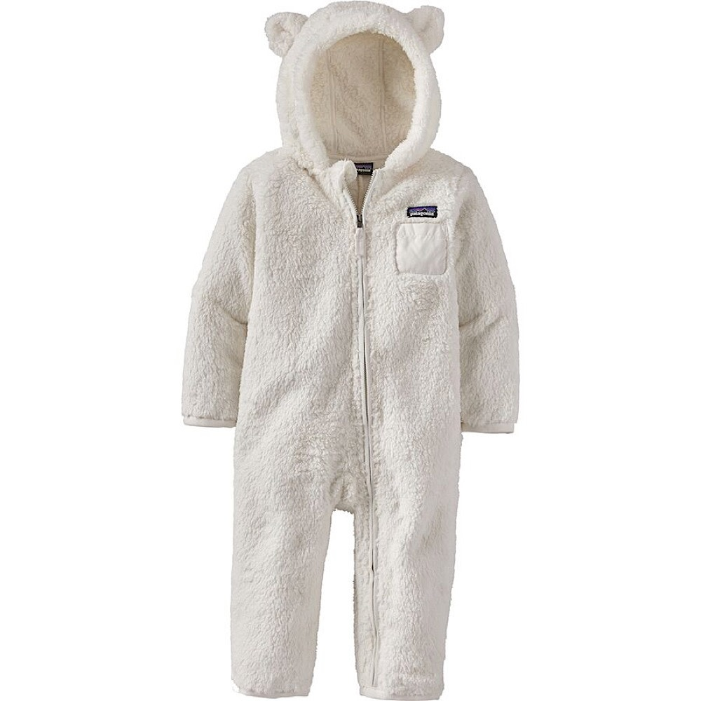 Patagonia Baby Furry Friends Bunting - Birch White