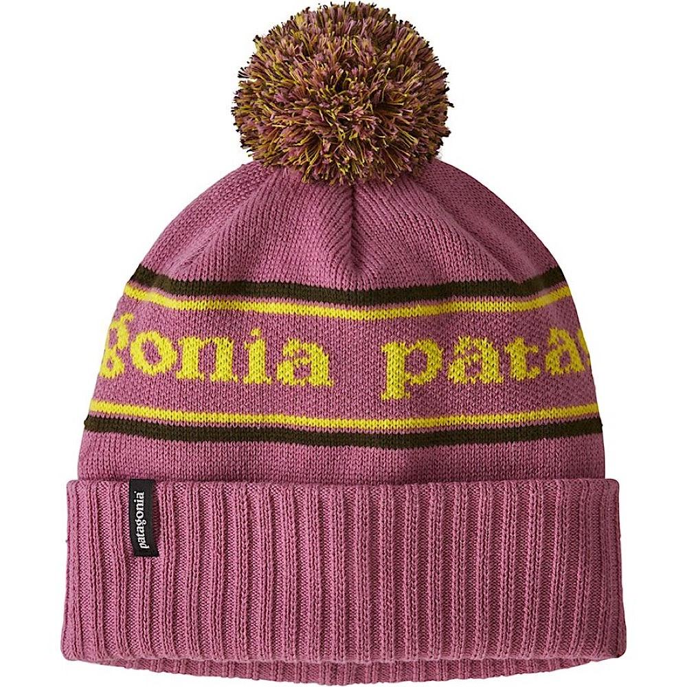 Patagonia Kid's Powder Town Beanie - Park Stripe Artifact Pink