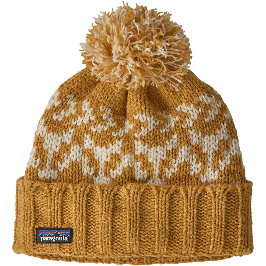 Patagonia Snowbell Beanie - Badger Stripe Knit Buckwheat Gold