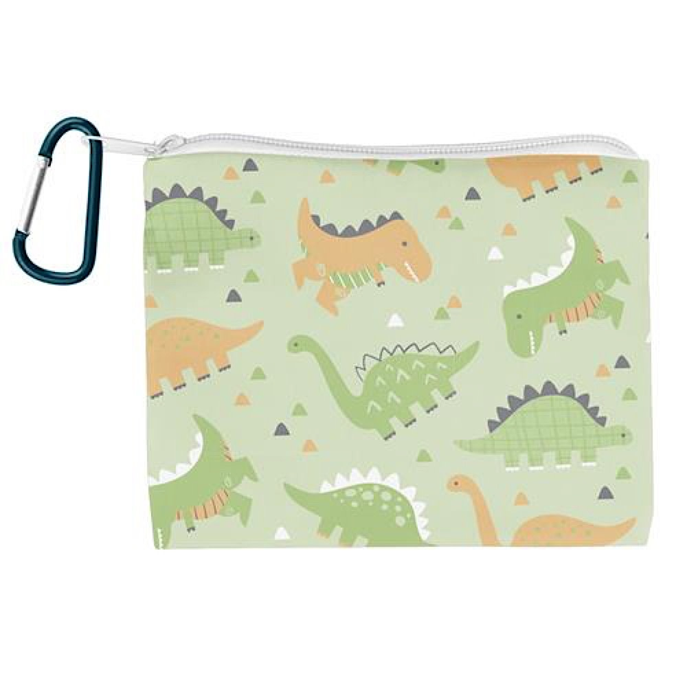 Kids Face Mask With Zipper Pouch - Dino