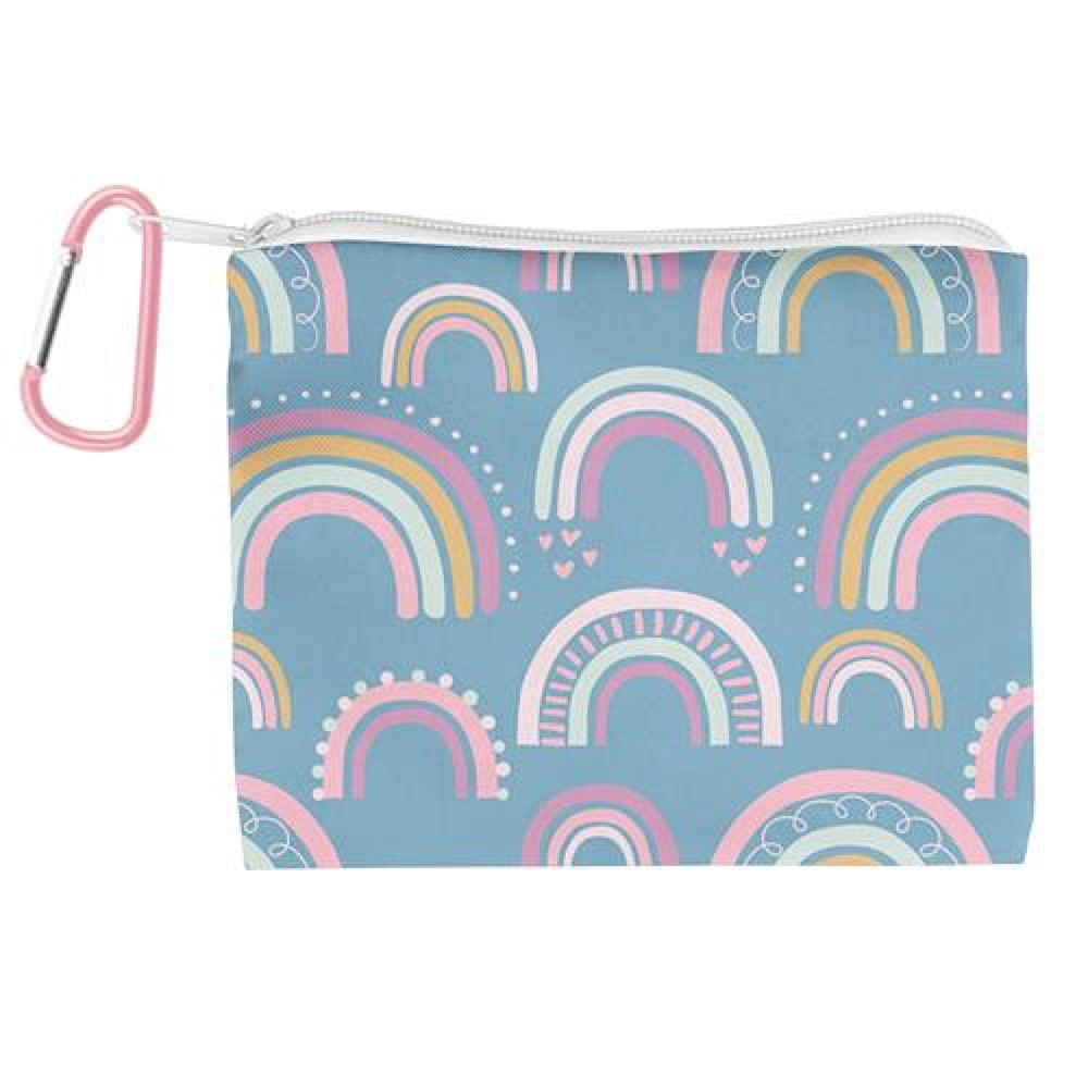 Kids Face Mask With Zipper Pouch - Rainbow
