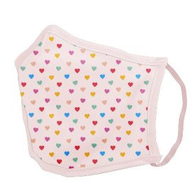 Talking Out of Turn Talking Out of Turn Face Mask - Tiny Hearts - Small