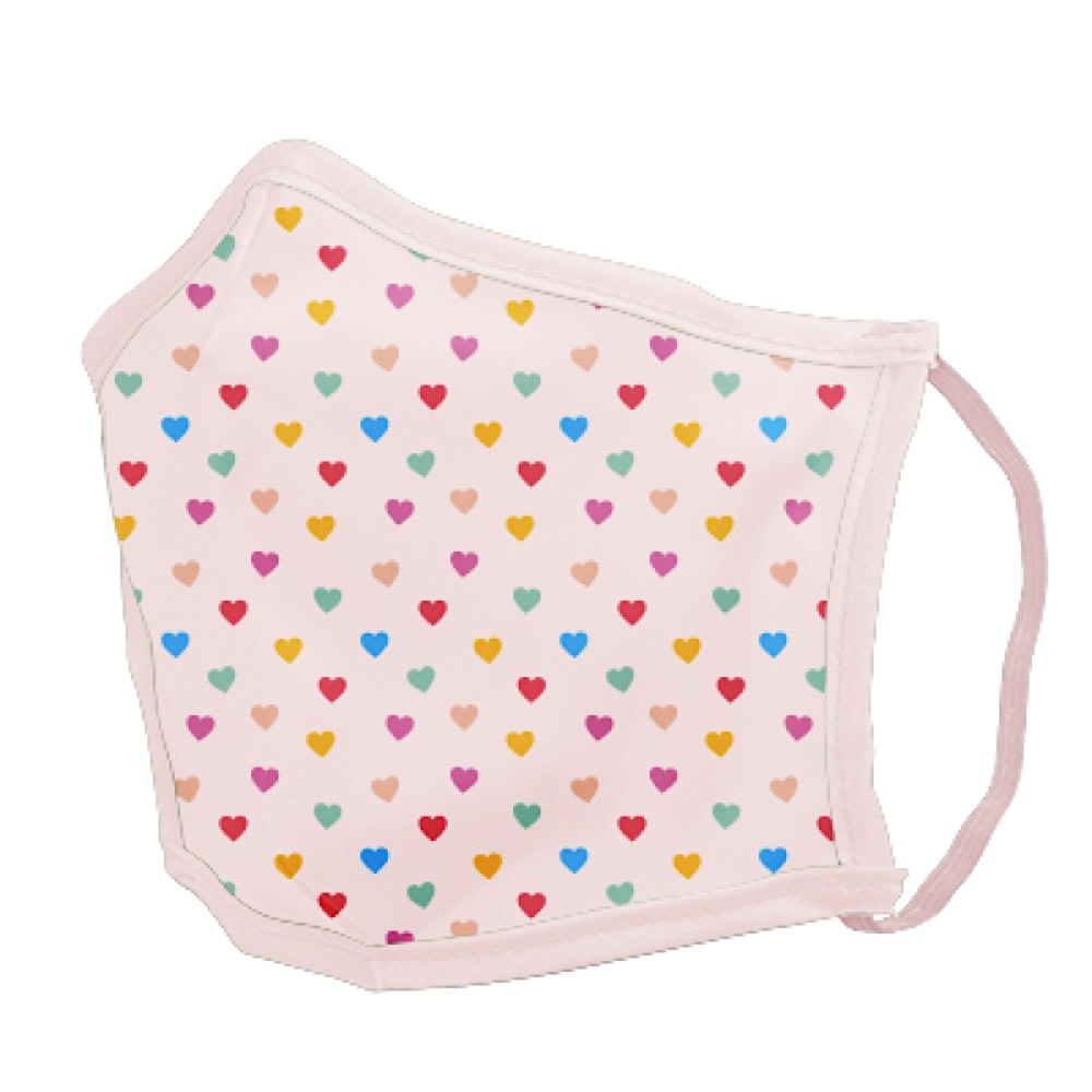 Talking Out of Turn Face Mask - Tiny Hearts - Small