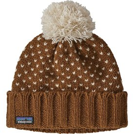 Patagonia Patagonia Snowbell Beanie - Simple Dot Knit Wood Brown