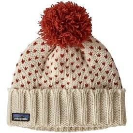 Patagonia Patagonia Snowbell Beanie - Simple Dot Knit Hot Ember