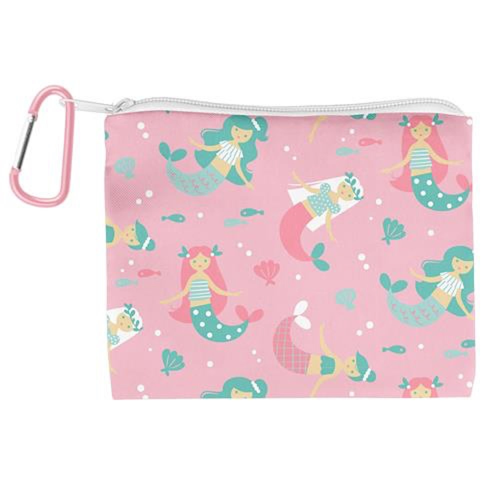 Kids Face Mask With Zipper Pouch - Mermaid