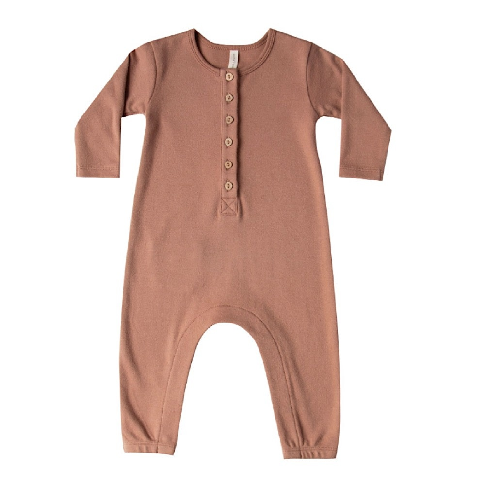 Quincy Mae Longsleeve Jumpsuit - Clay