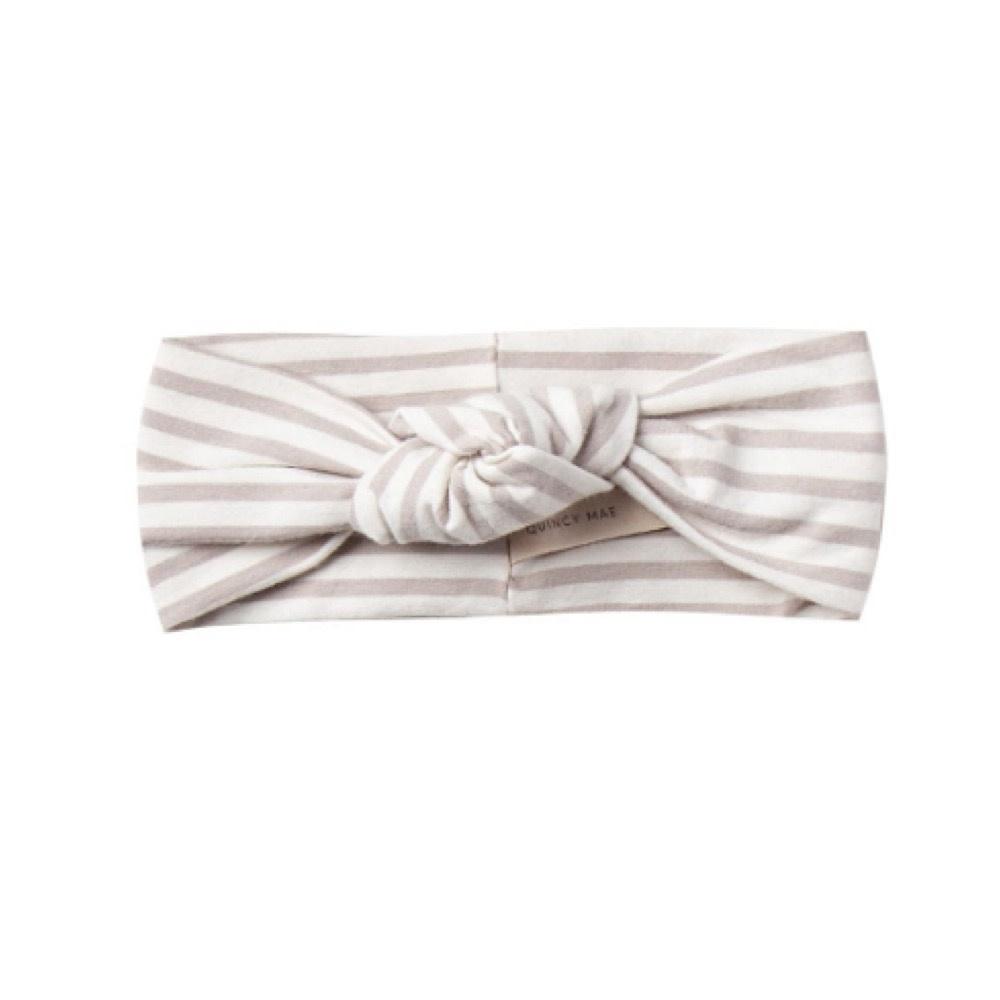 Quincy Mae Baby Turban - Fog Stripe