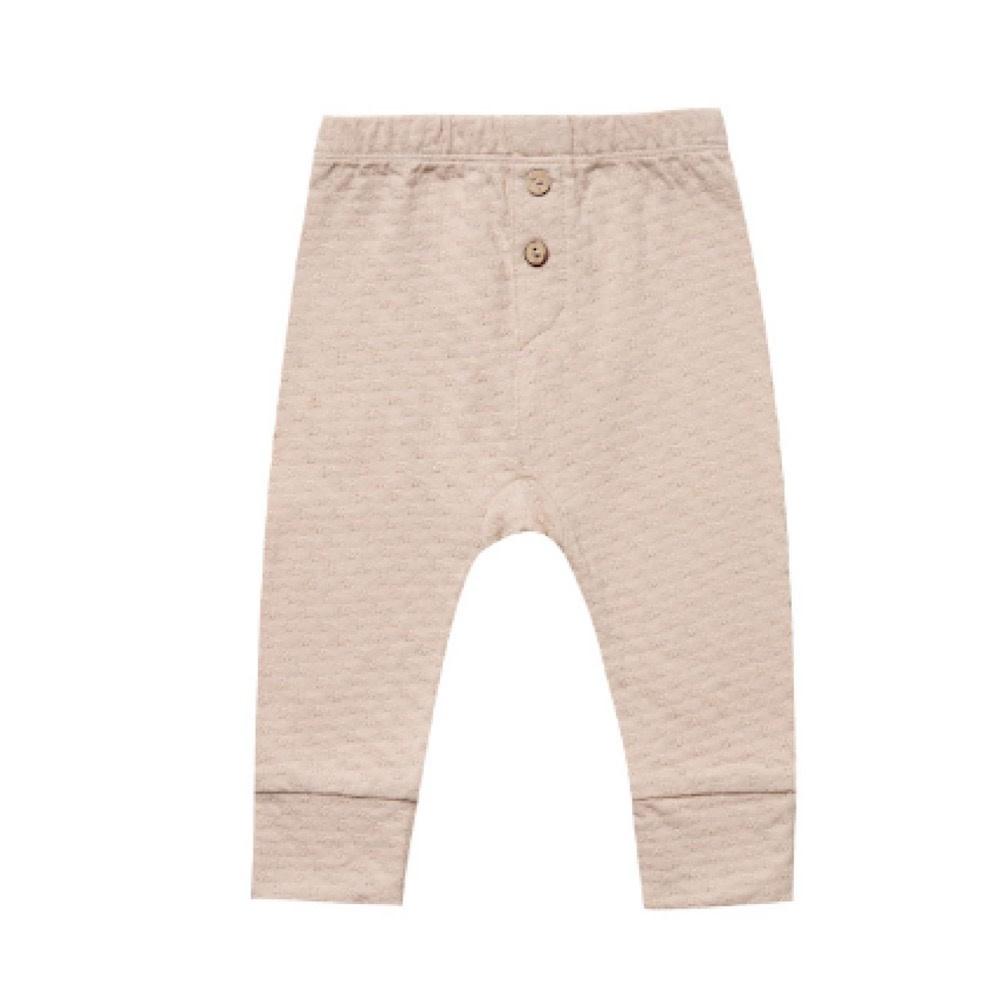 Quincy Mae Pointelle Pajama Pant - Petal