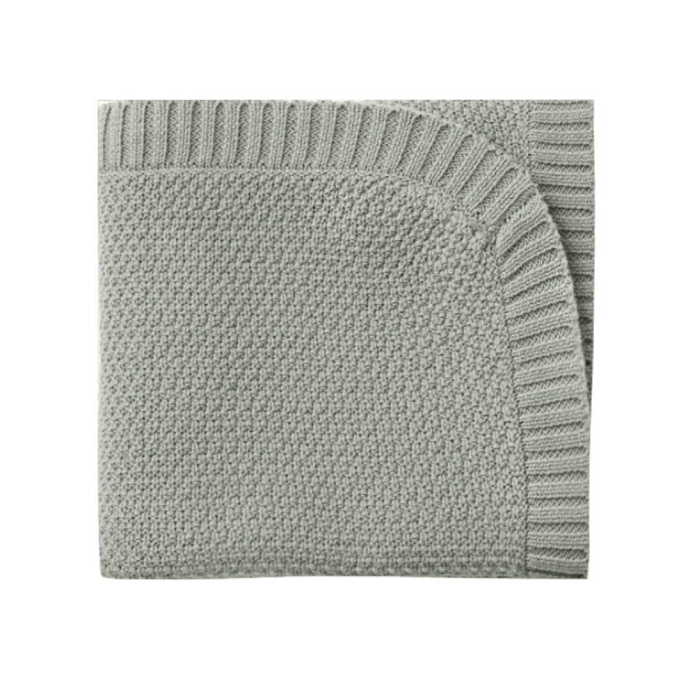 Quincy Mae Qulncy Mae chunky Knit Baby Blanket 33x33 - Sage