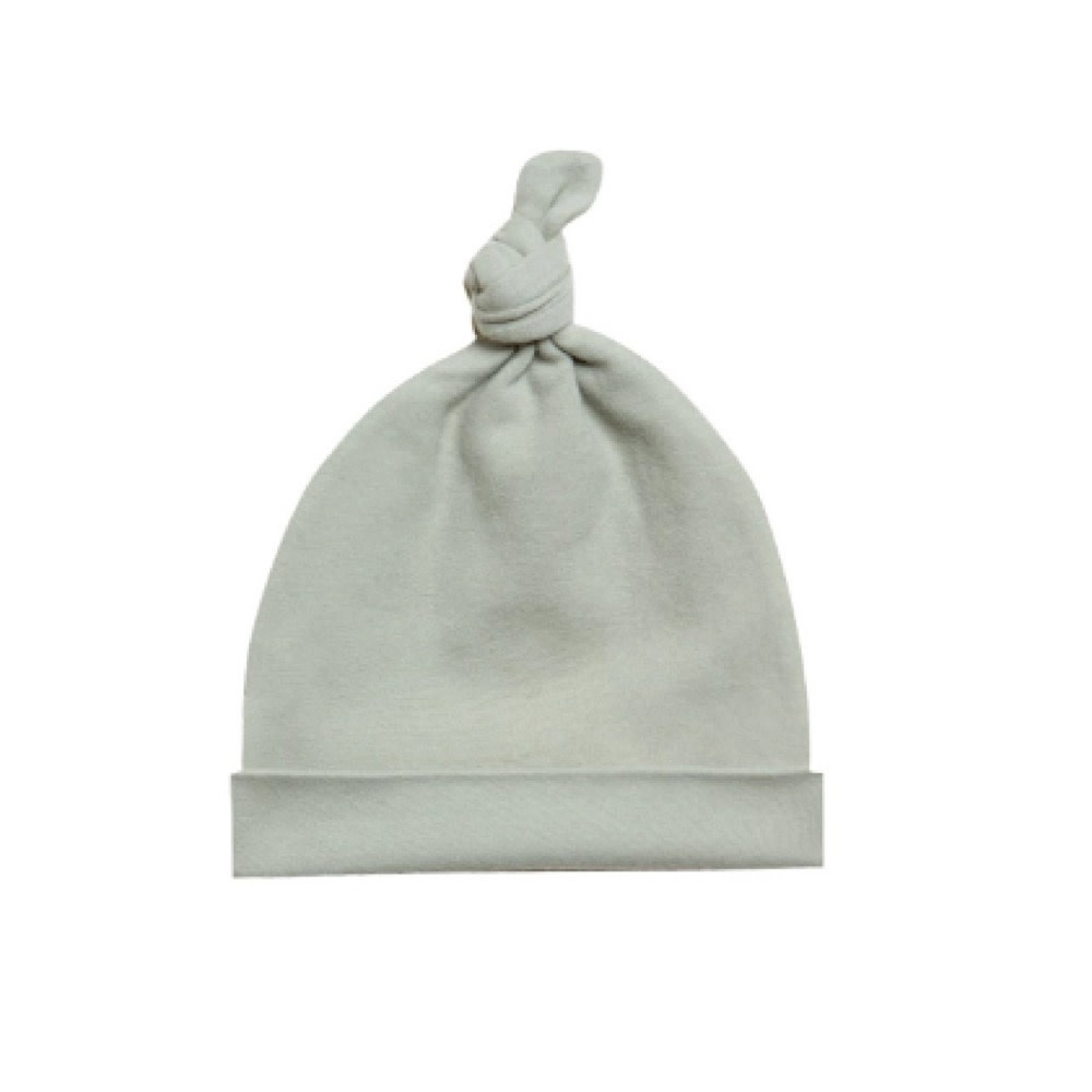 Quincy Mae Qunicy Mae Knotted Baby Hat - Sage - 0-6M