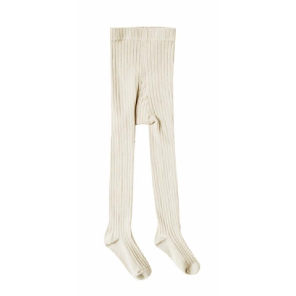 Rylee + Cru Solid Ribbed Tights - Wheat