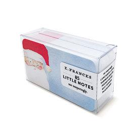 E Frances Paper E Frances Santa Little Notes