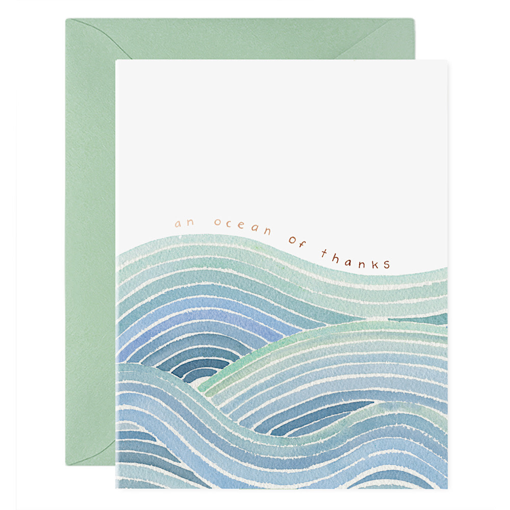 E Frances Paper E Frances Ocean of Thanks Card - Box of 6