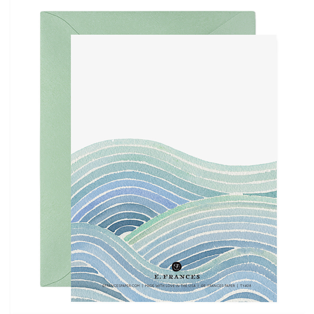 E Frances Ocean of Thanks Card - Box of 6