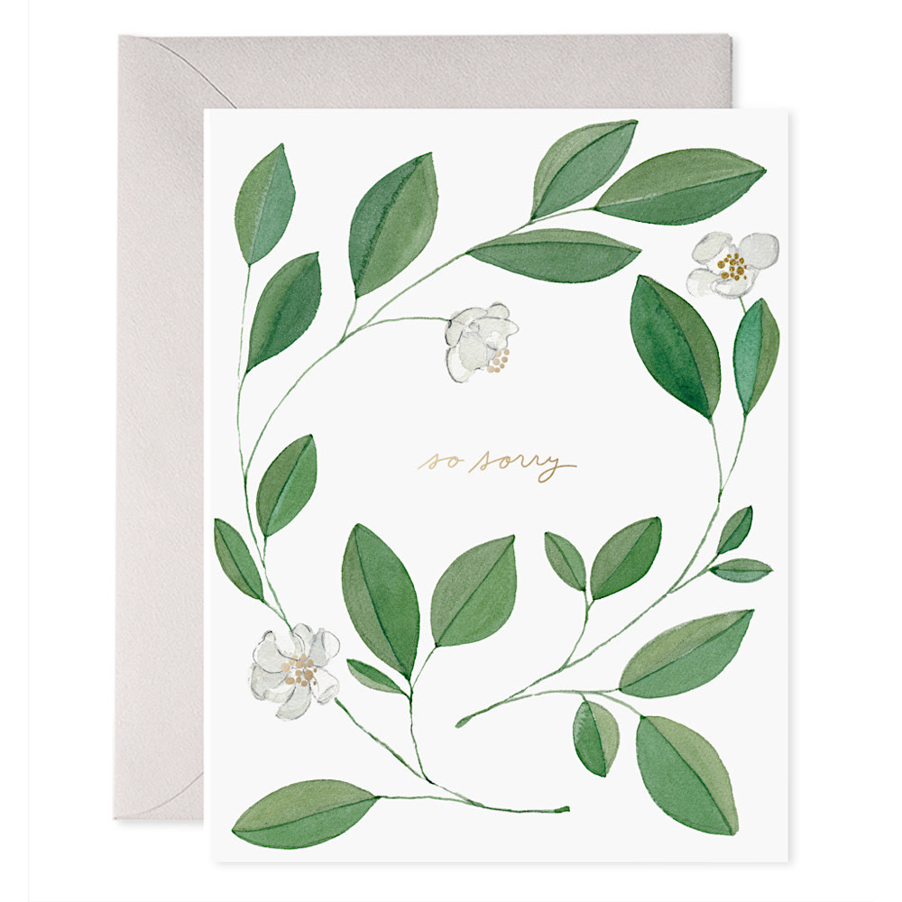 E Frances Paper E Frances Magnolia Condolence Card