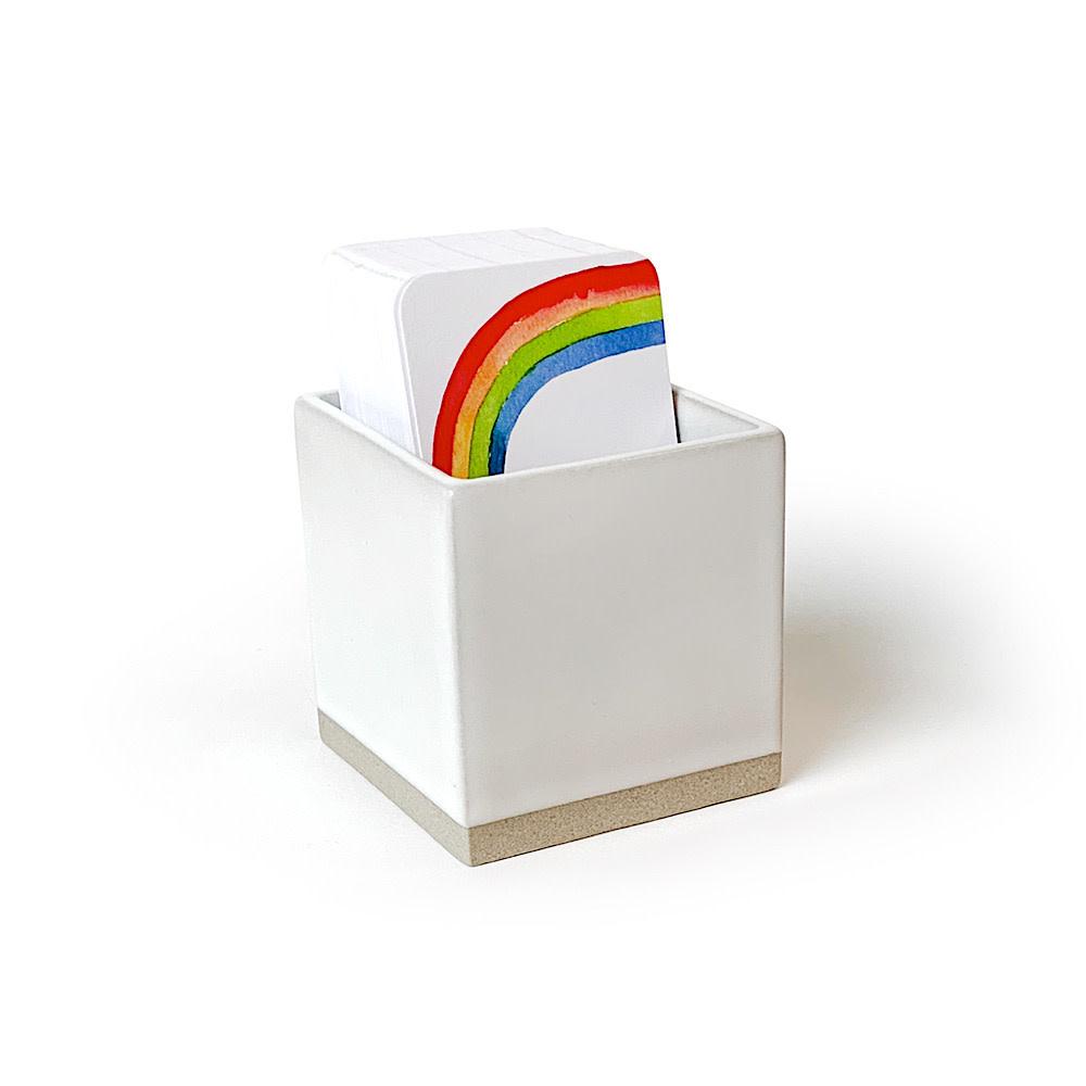 E Frances Little Note Ceramic Box