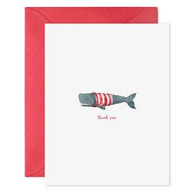 E Frances Paper E Frances Whale Thanks Card