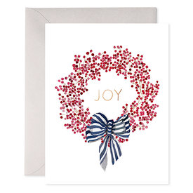 E Frances Paper E Frances Red Berry Wreath Card