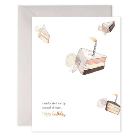 E Frances Paper E Frances Flying Cake Card