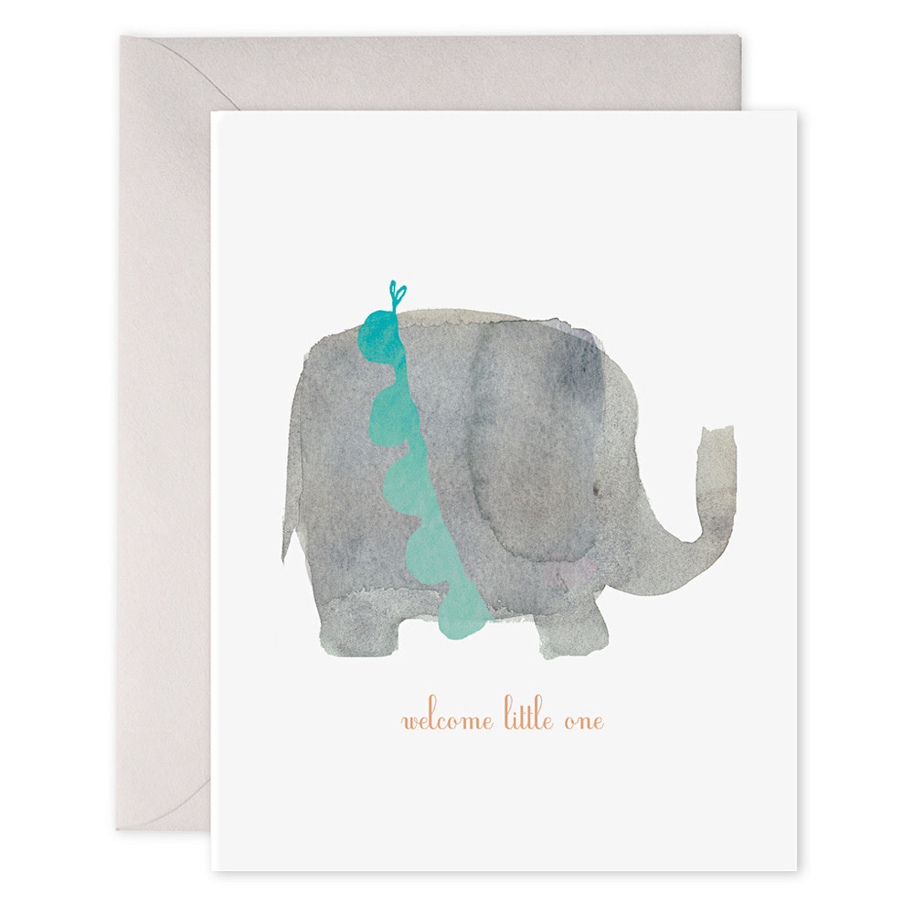 E Frances Welcome Little One Elephant Card