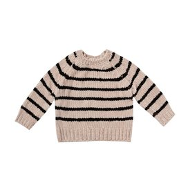 Rylee + Cru Rylee + Cru Striped Chenille Sweater - Oat