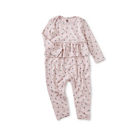 Tea Collection Tea Collection Radish Peplum Romper - Baby Radish