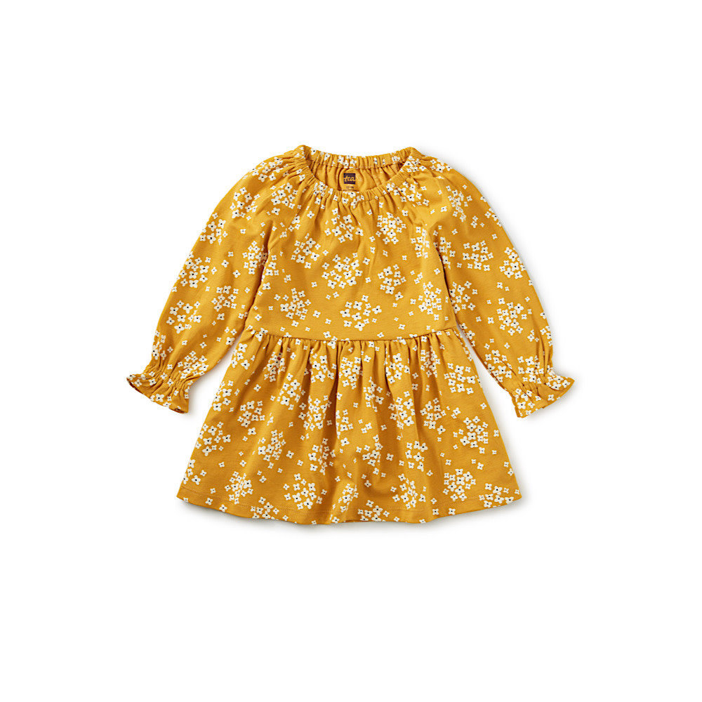Tea Collection Peasant Baby Dress - Golden Wildflowers