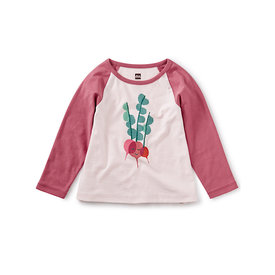 Tea Collection Tea Collection Rad Radish Raglan Graphic Tee - Crystal Pink