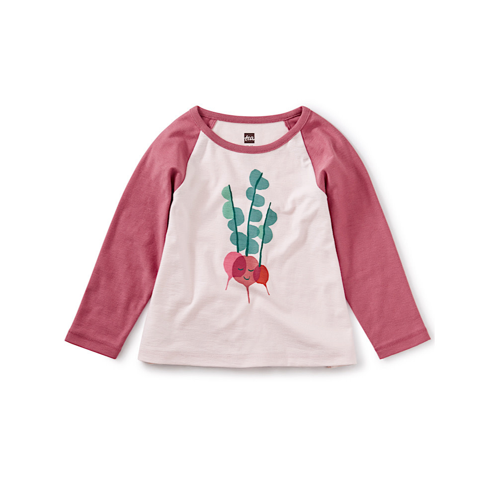 Tea Collection Rad Radish Raglan Graphic Tee - Crystal Pink