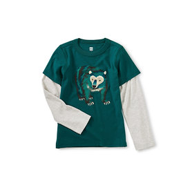 Tea Collection Tea Collection Big Bear Layered Graphic Tee - Jade