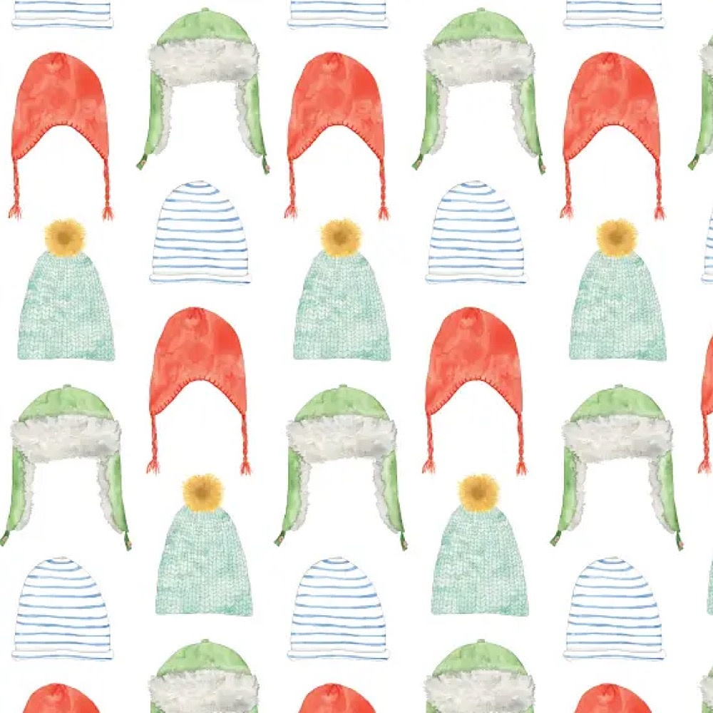 Sara Fitz Wrapping Paper - Holiday Hats