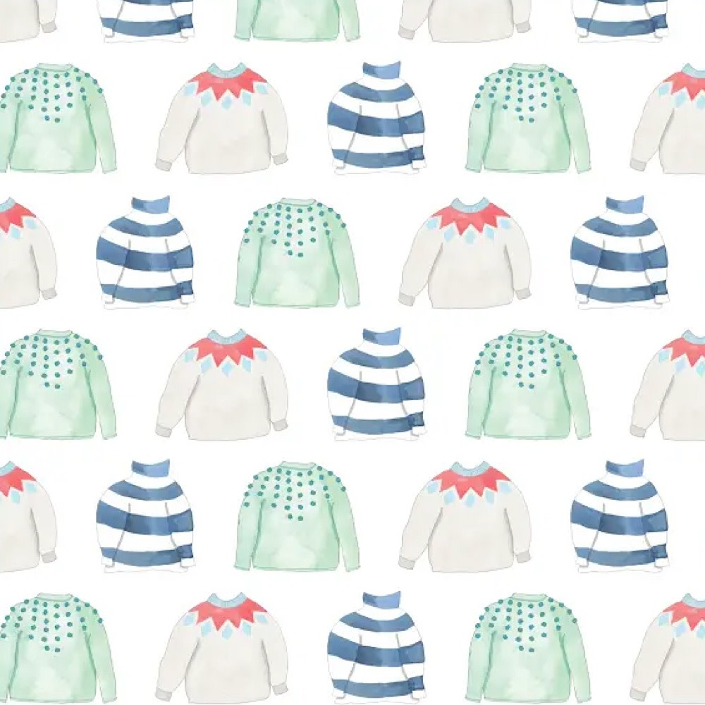 Sara Fitz Wrapping Paper - Cozy Sweater