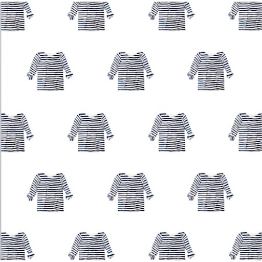 Sara Fitz Wrapping Paper - Striped Shirt