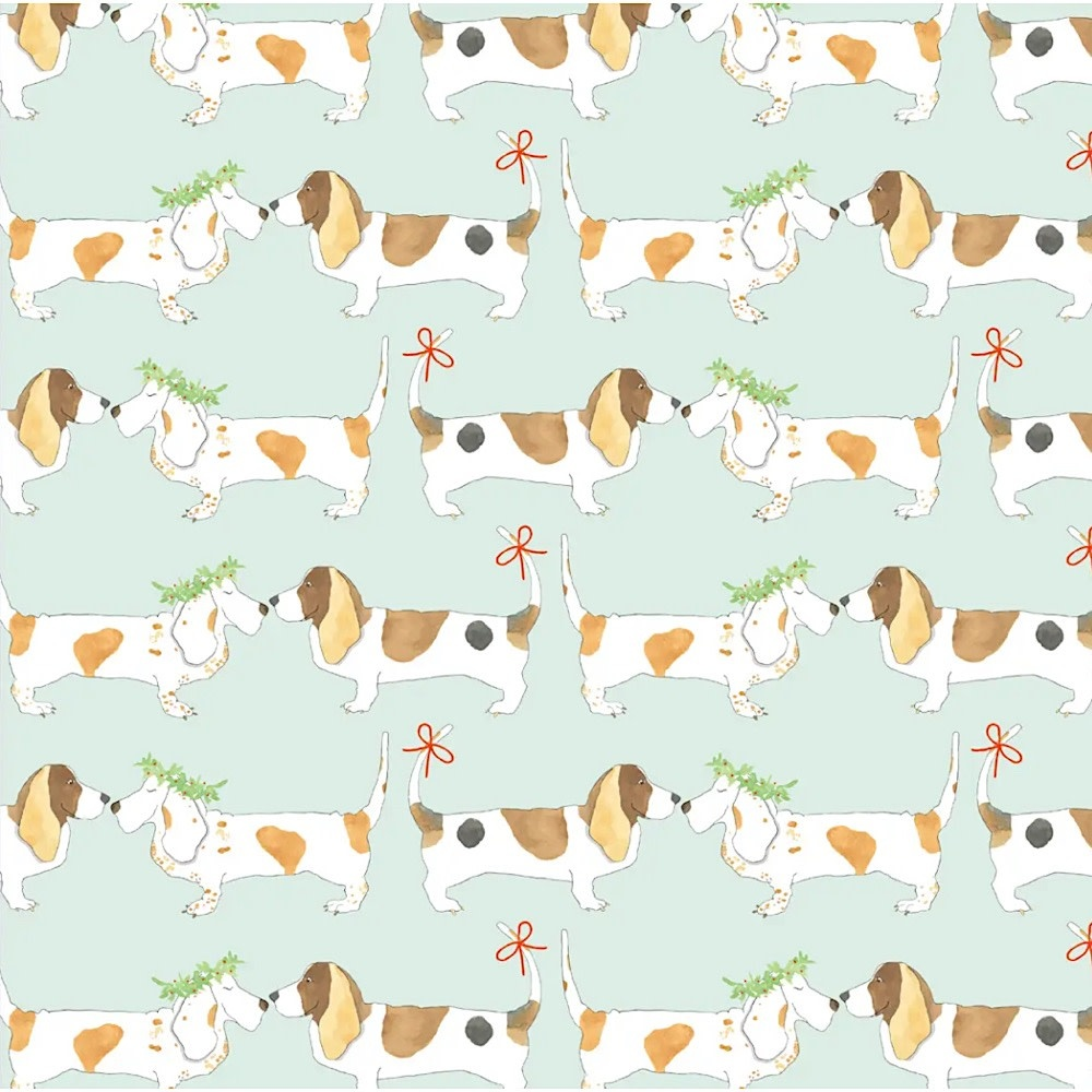 Sara Fitz Wrapping Paper - Festive Hounds