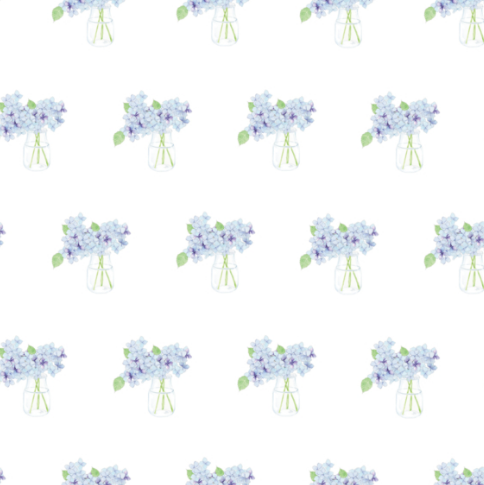 Sara Fitz Wrapping Paper - Hydrangea