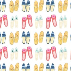 Sara Fitz Sara Fitz Wrapping Paper - Slippers