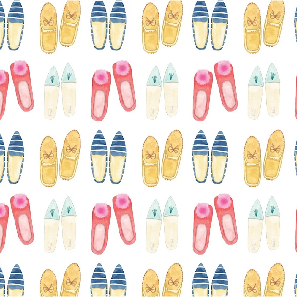 Sara Fitz Wrapping Paper - Slippers
