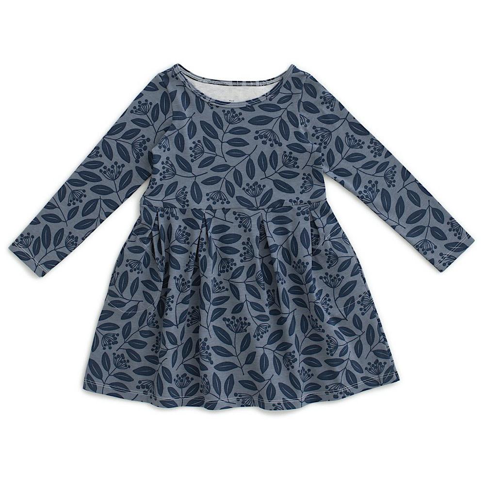 Winter Water Factory Madison Dress - Elderberry Night Sky & Slate Blue