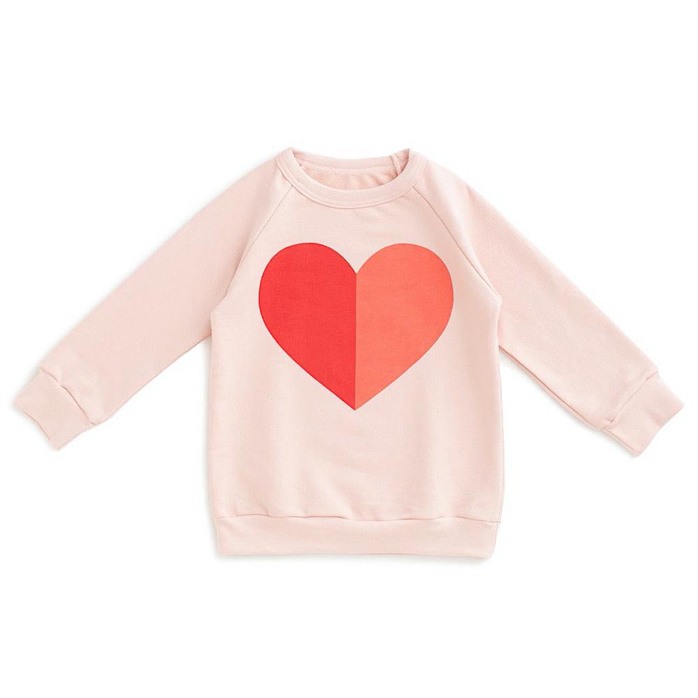 Winter Water Factory Sweatshirt - Heart Pink