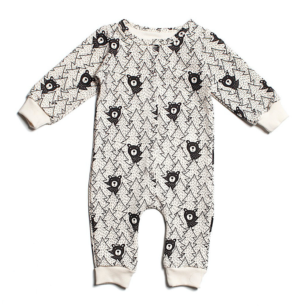 Winter Water Factory French Terry Jumpsuit - Bears Black